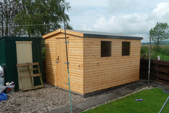 10x8 wooden garden shed
