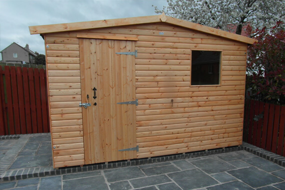 10x9 wooden garden shed