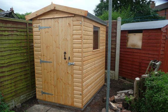 6x4 wooden garden shed