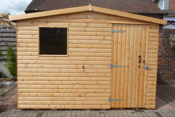 7x6 wooden garden shed