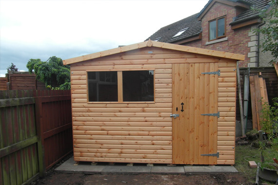 8x7 wooden garden shed