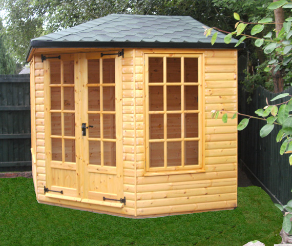 8x8 wooden summer house