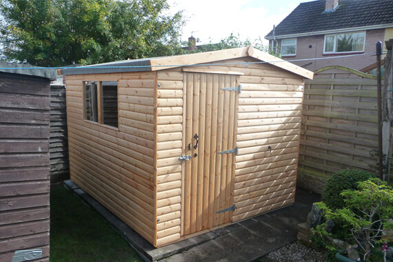9x7 wooden garden shed