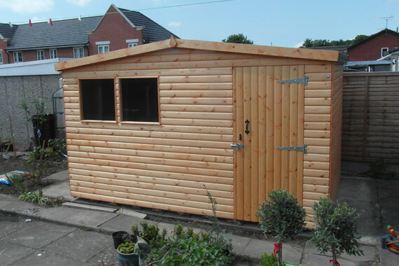 9x8 wooden garden shed