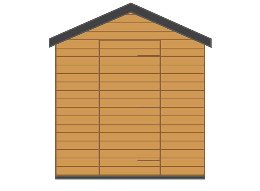 shed with apex gable diagram