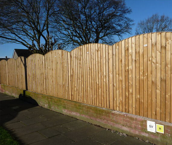 Harker Arched Board On Board 6x2 Wooden Fence Panel