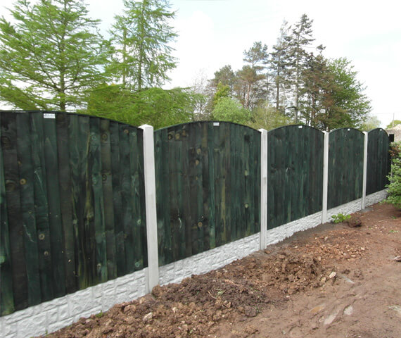 Harker Arched Feather Edge 6x2 Wooden Fence Panel