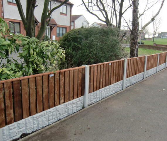 Harker Palisade 6x3 Wooden Fence Panels