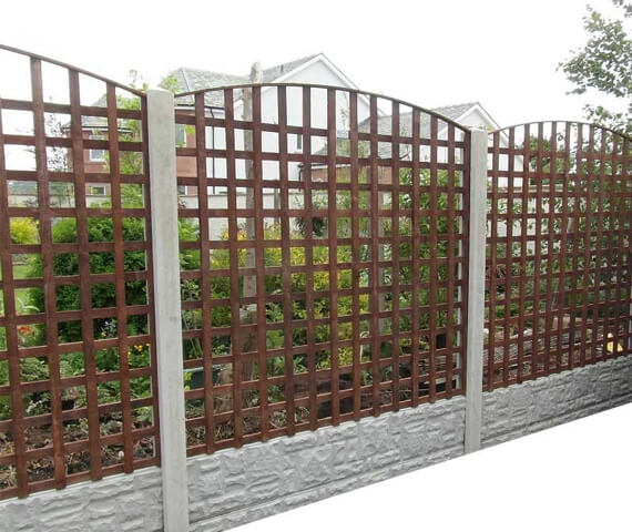 Harker Arched Trellis 6x6 Wooden Fence Panel