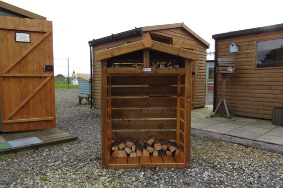 wooden log stores