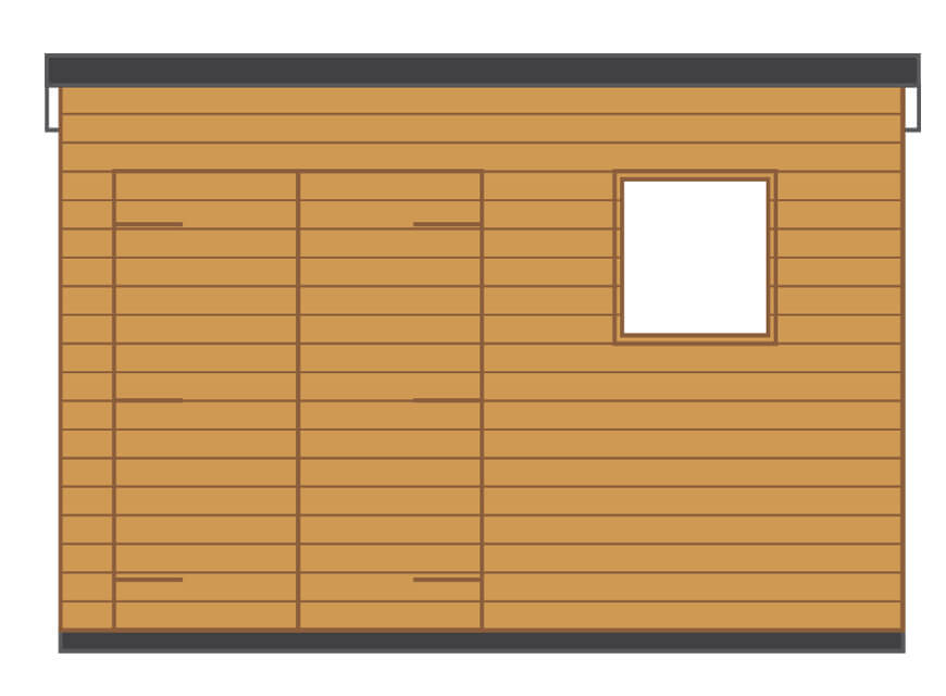 pent side aspect diagram