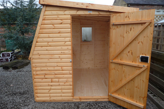 wooden potting shed